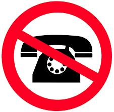 Geen telefoon